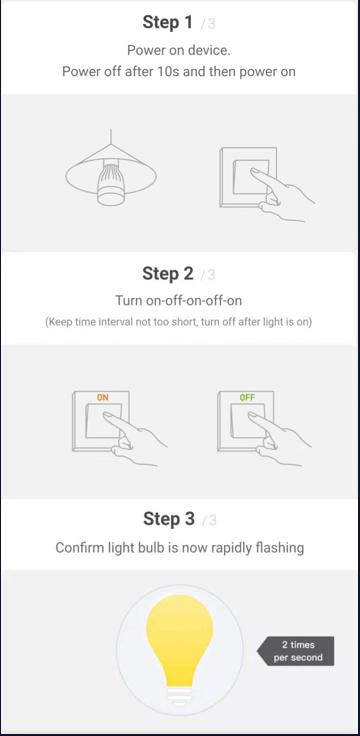 como entrar o dispositivo no modo de configuracao modo normal