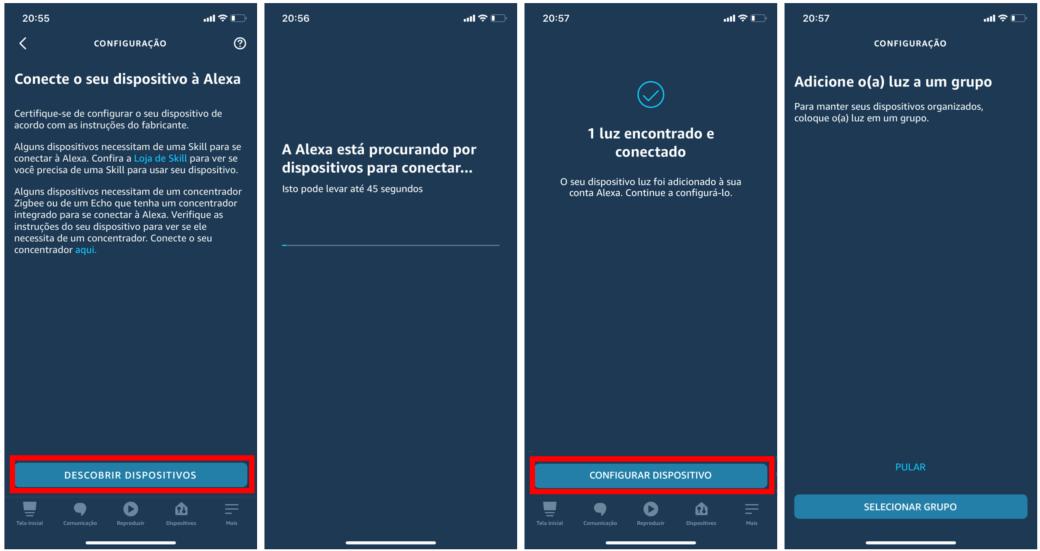 Controle seus dispositivos inteligentes com a Alexa